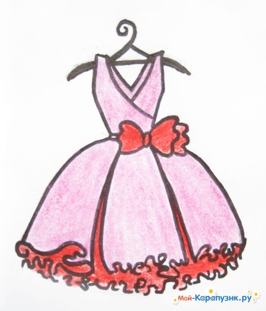 3834a13ac23 Как нарисовать платье карандашами