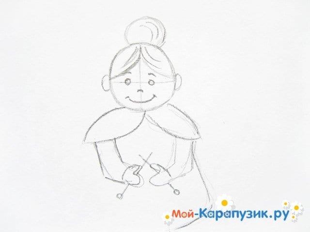 Днем, что нарисовать бабушке открытку карандашом поэтапно