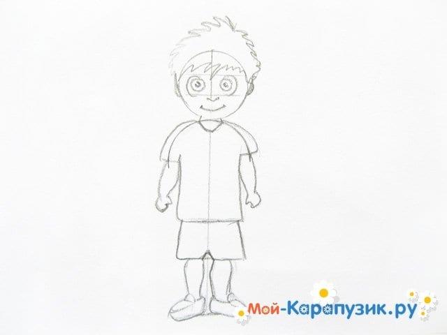 Поэтапное рисование мальчика цветными карандашами - фото 8