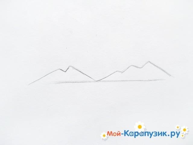 Поэтапное рисование природы цветными карандашами - фото 2