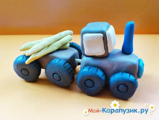 Лепка трактора из пластилина - фото 12