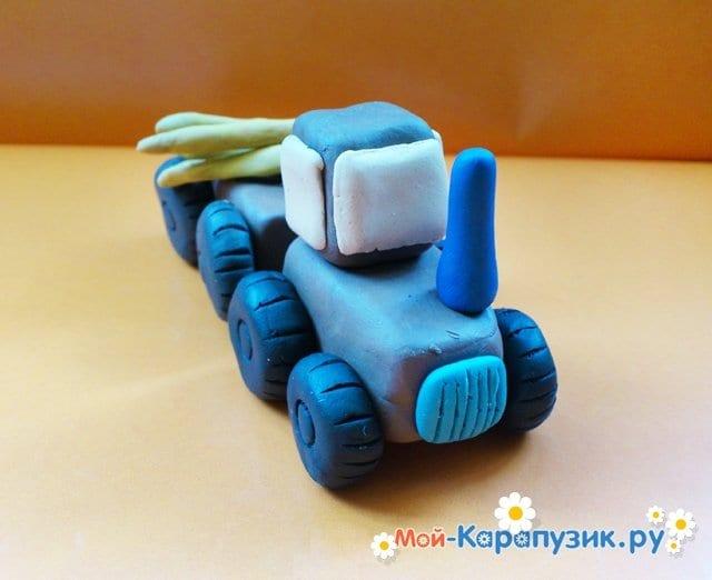 Лепка трактора из пластилина - фото 13