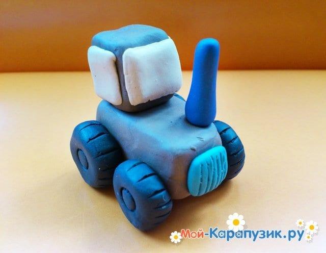 Лепка трактора из пластилина - фото 7