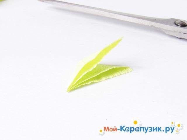 Изготовление одуванчика из бумаги - фото 16