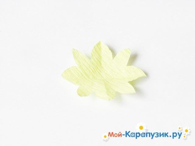 Изготовление одуванчика из бумаги - фото 18