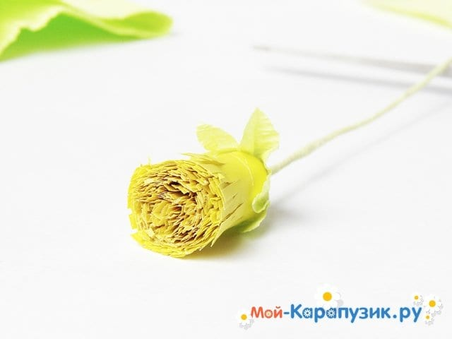 Изготовление одуванчика из бумаги - фото 21