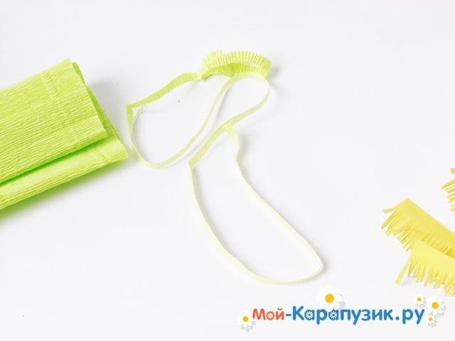 Изготовление одуванчика из бумаги - фото 7