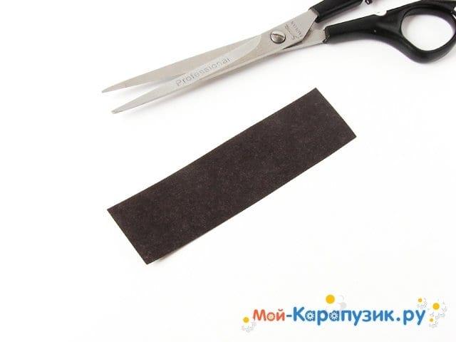 Изготовление васильков из гофрированной бумаги - фото 6