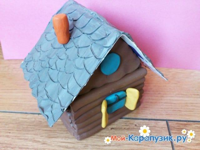 Как сделать дом из пластилина и коробки