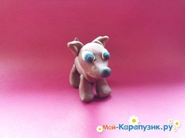 Лепка собаки из пластилина - фото 10.