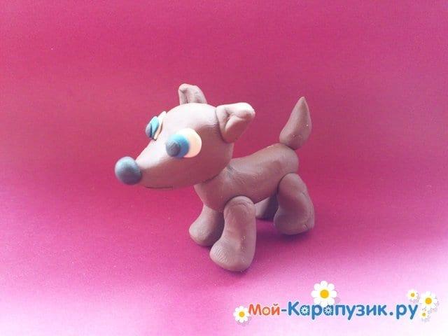 Лепка собаки из пластилина - фото 11.