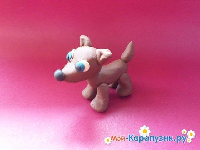 Лепка собаки из пластилина - фото 12.
