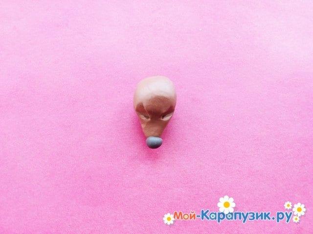 Лепка собаки из пластилина - фото 4.
