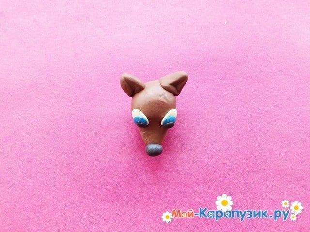 Лепка собаки из пластилина - фото 5.