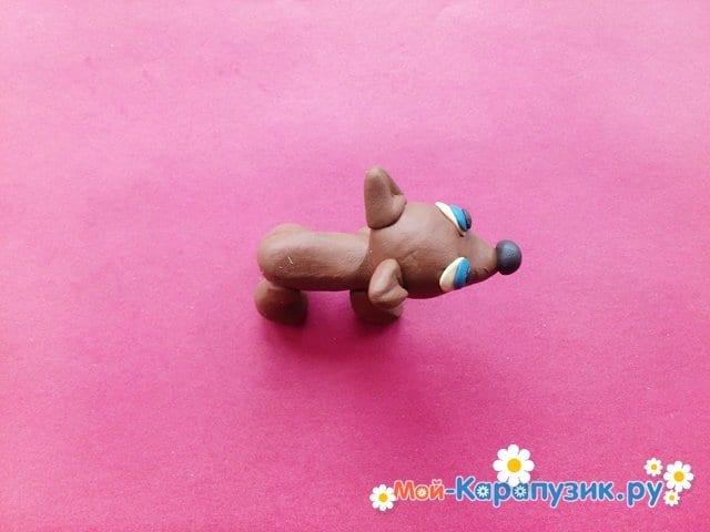Лепка собаки из пластилина - фото 8.