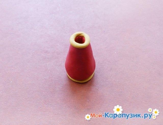 Лепка вазы из пластилина - фото 4