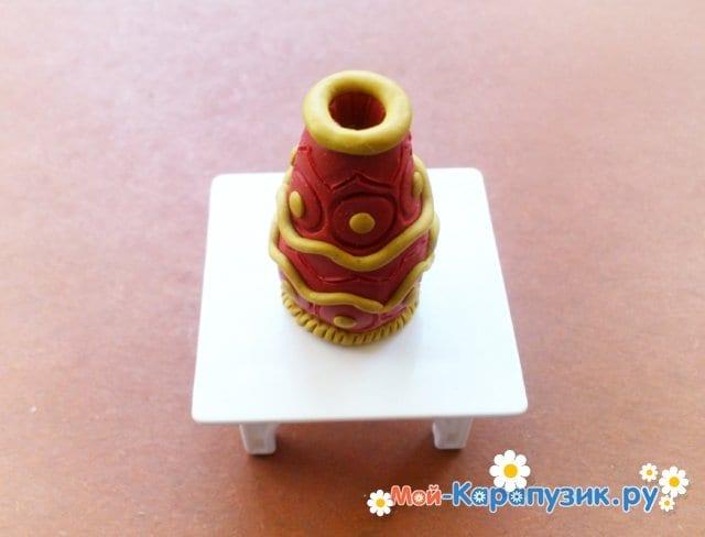 Лепка вазы из пластилина - фото 8