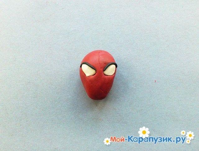 Лепка человека-паука из пластилина - фото 4