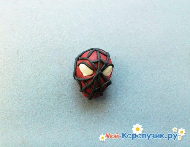 Лепка человека-паука из пластилина - фото 5