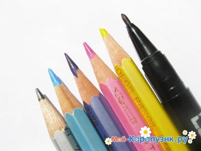 Поэтапное рисование ангела цветными карандашами - фото 1