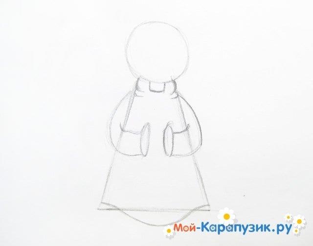 Поэтапное рисование ангела цветными карандашами - фото 5