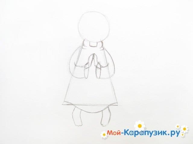 Поэтапное рисование ангела цветными карандашами - фото 7