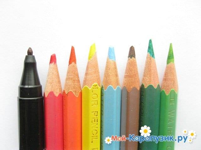 Поэтапное рисование дракона цветными карандашами - фото 1