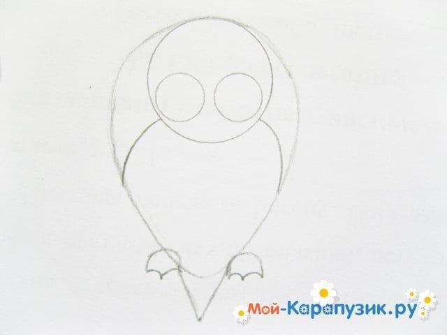 Поэтапное рисование совы карандашом - фото 10