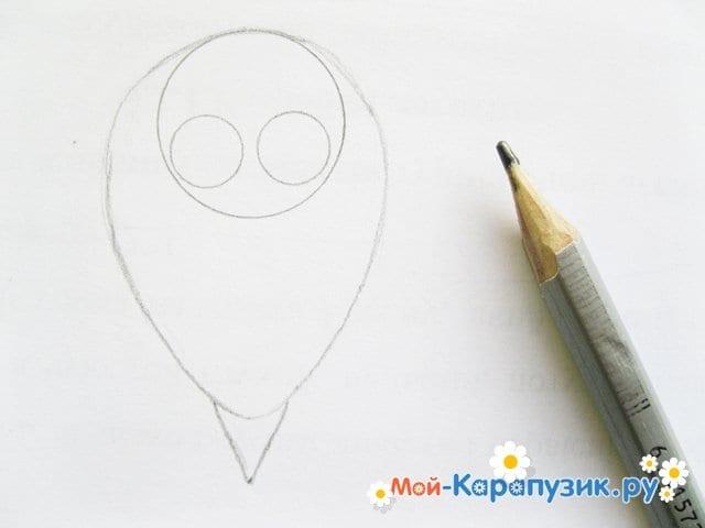 Поэтапное рисование совы карандашом - фото 9