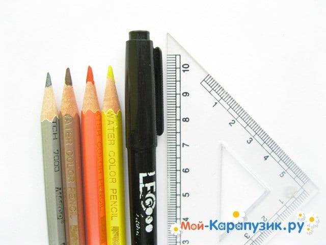 Поэтапное рисование таксы цветными карандашами - фото 1