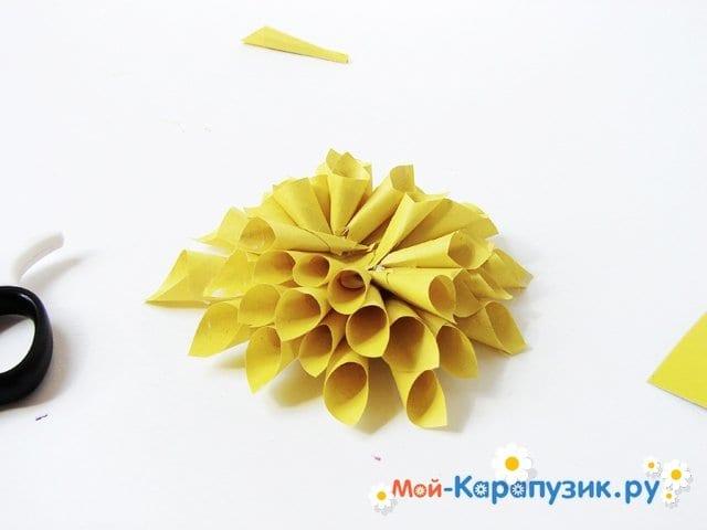 Изготовление георгин из бумаги - фото 11