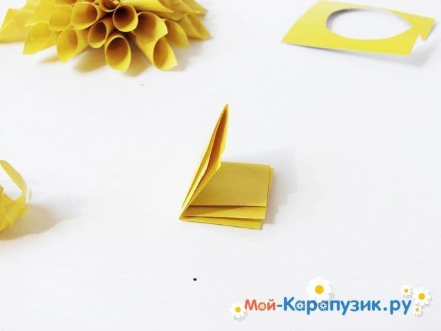 Изготовление георгин из бумаги - фото 12