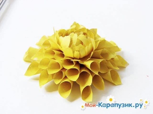 Изготовление георгин из бумаги - фото 16