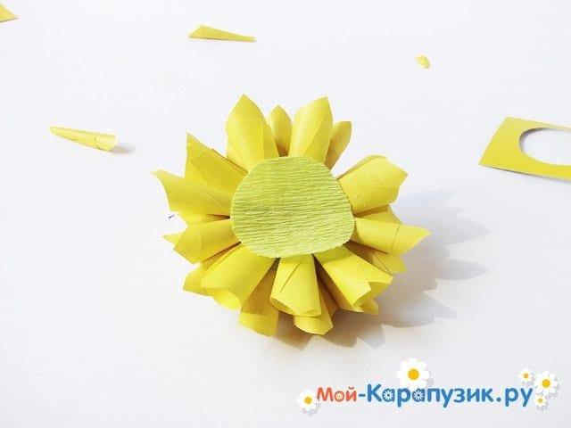 Изготовление георгин из бумаги - фото 18