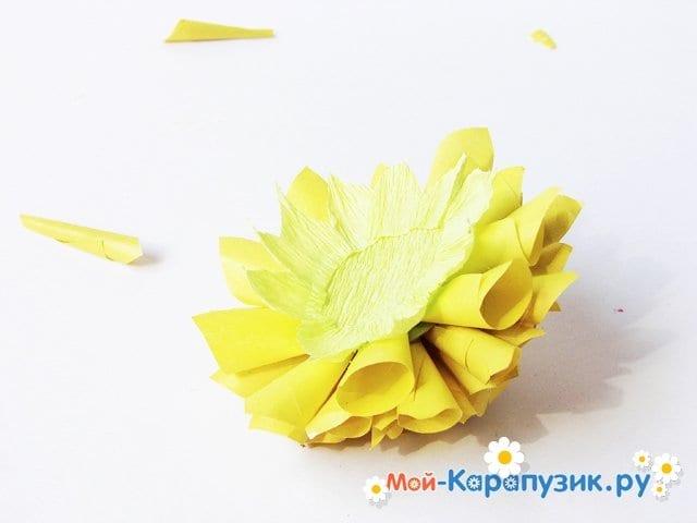 Изготовление георгин из бумаги - фото 19