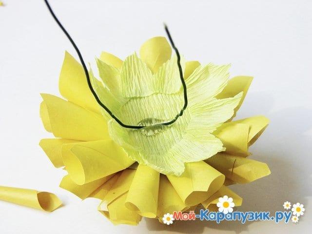 Изготовление георгин из бумаги - фото 21