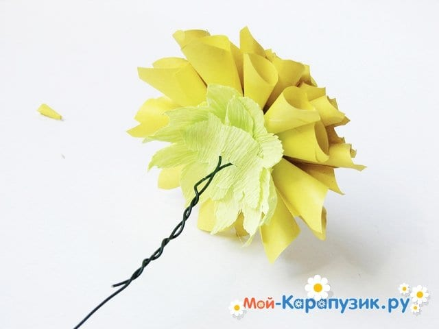 Изготовление георгин из бумаги - фото 22