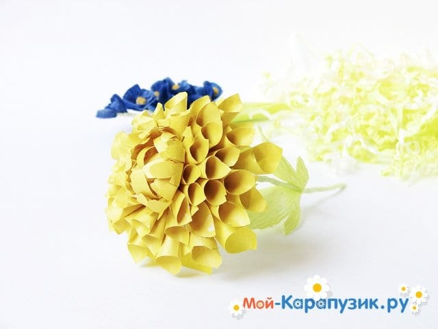 Изготовление георгин из бумаги - фото 25