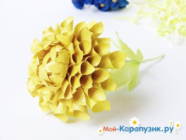 Изготовление георгин из бумаги - фото 27