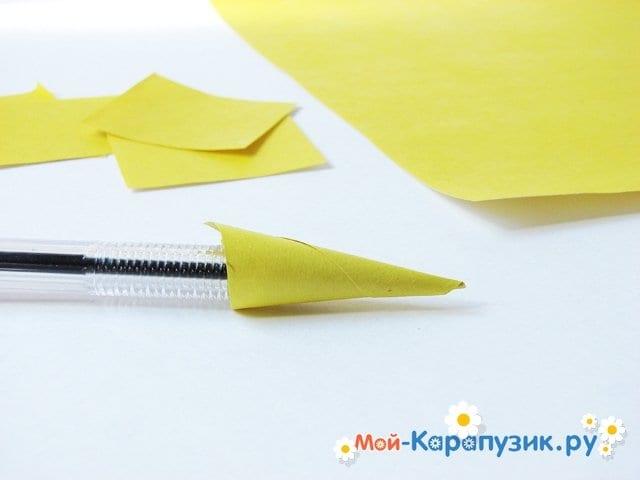 Изготовление георгин из бумаги - фото 4