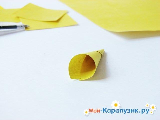 Изготовление георгин из бумаги - фото 5