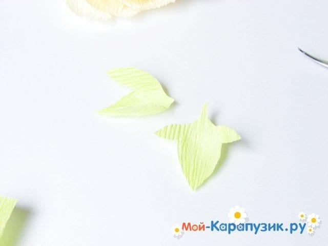Изготовление пиона из бумаги - фото 19