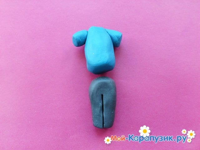 Лепка человека из пластилина - фото 6