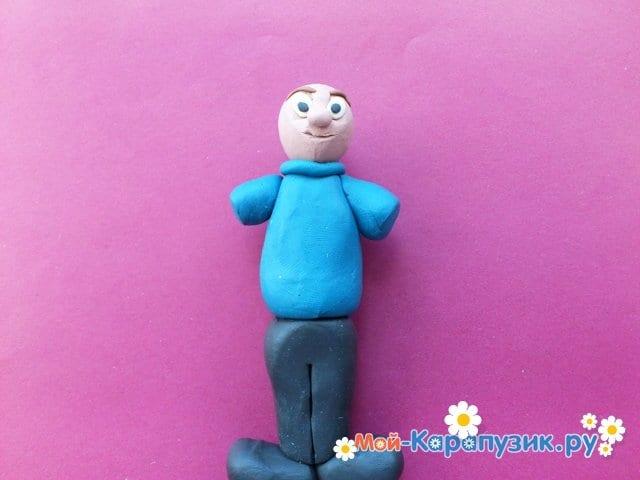 Лепка человека из пластилина - фото 8