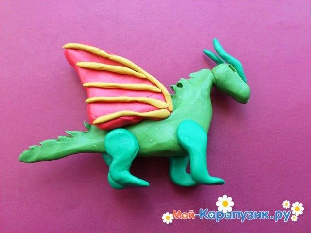 Лепка дракона из пластилина - фото 10