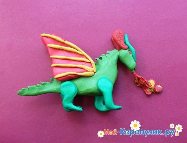 Лепка дракона из пластилина - фото 11
