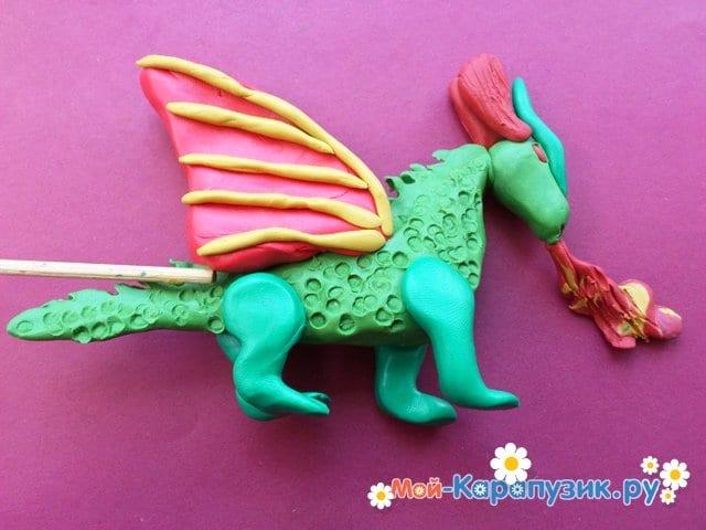 Лепка дракона из пластилина - фото 12