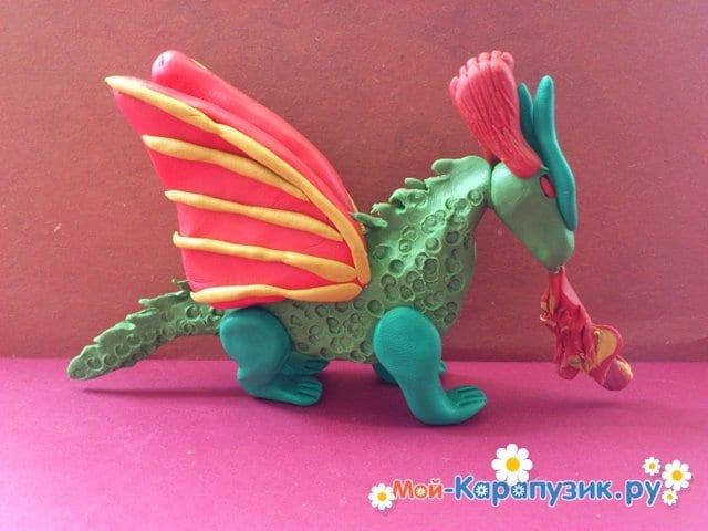 Лепка дракона из пластилина - фото 13