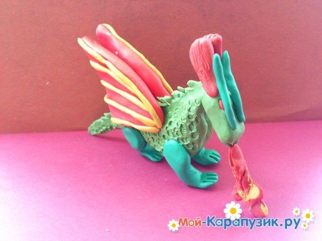 Лепка дракона из пластилина - фото 14
