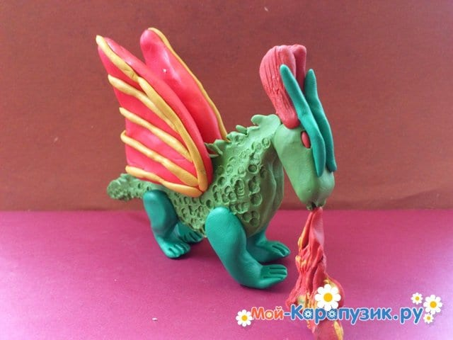 Лепка дракона из пластилина - фото 15